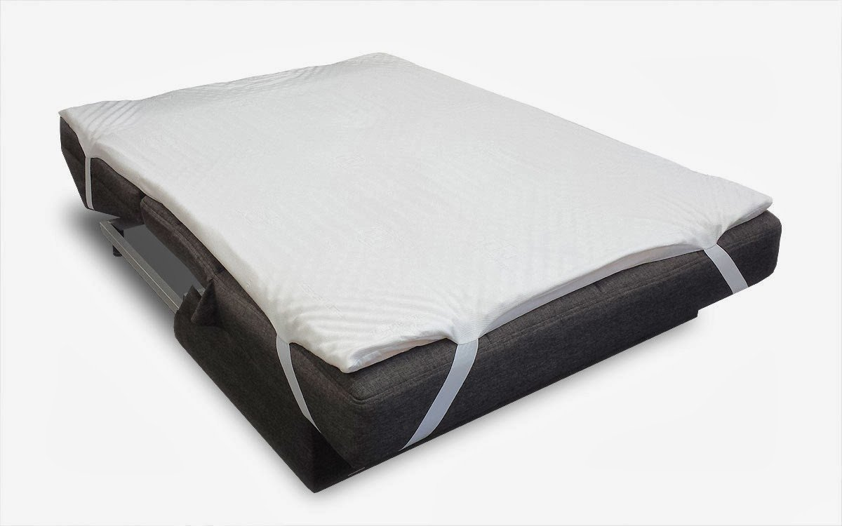 Sofa bed pillow top mattress pad by comfort pure for Sofa bed mattress pad walmart