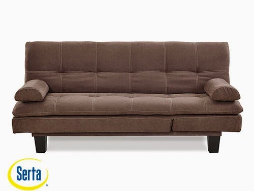 Adelaide Convertible Sofa Java by Serta / Lifestyle