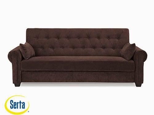 Andrea Convertible Sofa Java by Serta / Lifestyle