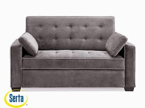 Augustine Convertible Sofa Moon Grey Full by Serta / Lifestyle