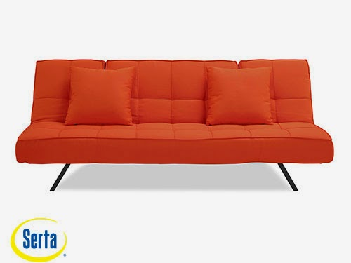 Copa Convertible Sofa Tangerine by Serta / Lifestyle