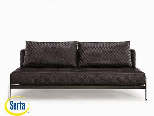 Denmark Convertible Sofa Black by Serta / Lifestyle