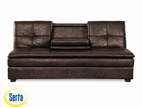 Kingsley Convertible Sofa Midnight Burl by Serta / Lifestyle