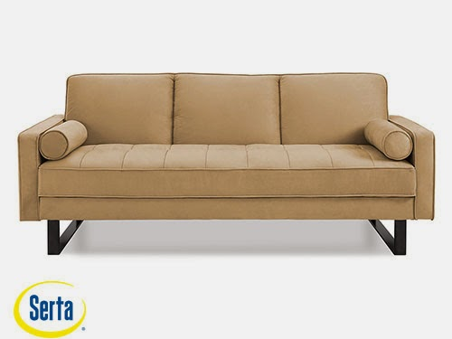 Malta Convertible Sofa Taupe by Serta / Lifestyle