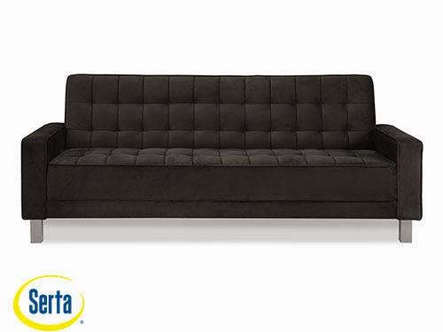 Montrose Convertible Sofa Black by Serta / Lifestyle
