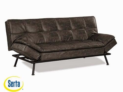 Myst Convertible Sofa Charcoal Burl by Serta / Lifestyle