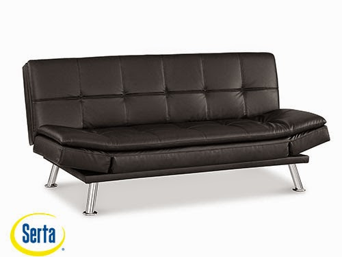 Niles Convertible Sofa Black by Serta / Lifestyle