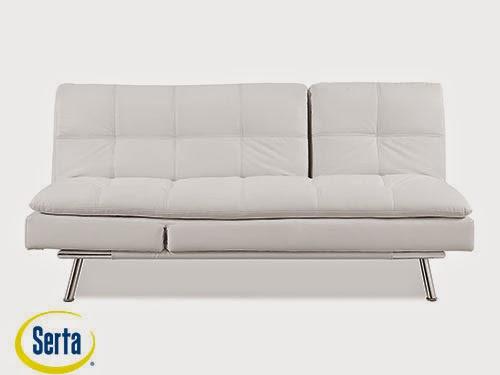Palermo Convertible Sofa White by Serta / Lifestyle