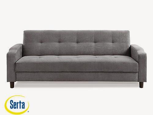 Reno Convertible Sofa Dark Grey by Serta / Lifestyle