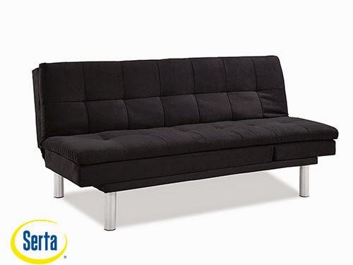 Siena Convertible Sofa Black by Serta / Lifestyle