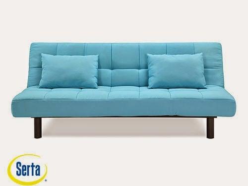 St. Lucia Convertible Sofa Emerald Glaze by Serta / Lifestyle