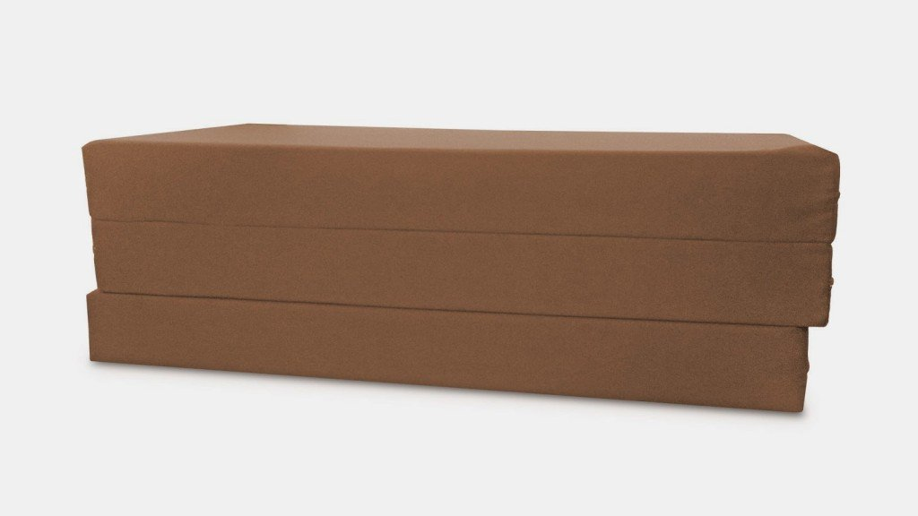 Folding Foam Bed/Bench Brown by Comfort Pure